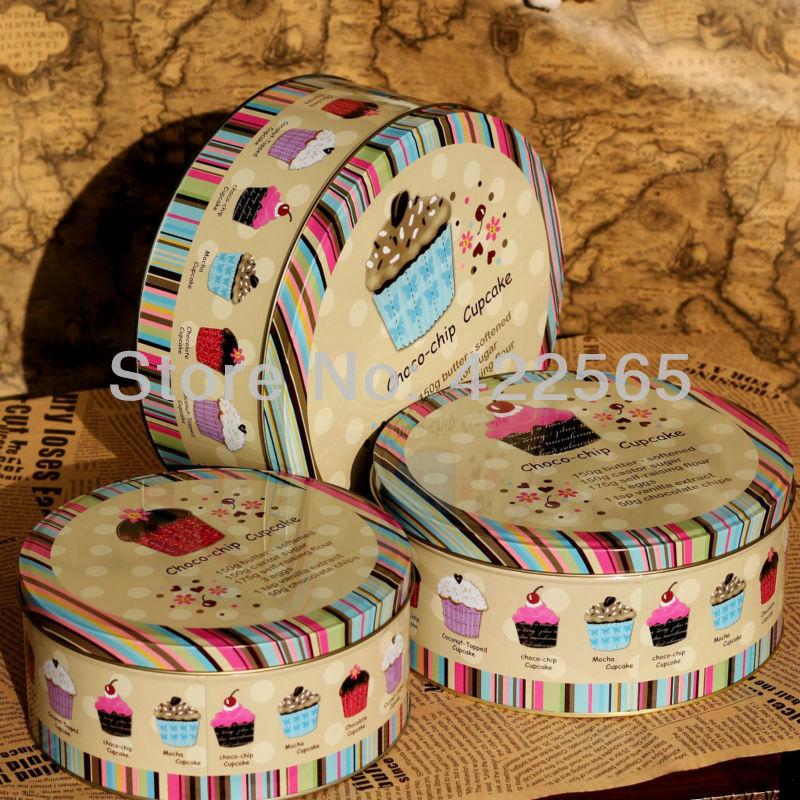 3pcs/lot Jumbo Metal Cookie Jar Candy Can Tin Box Choco-chip Design Creative Storage Box L size ,#21037(China (Mainland))