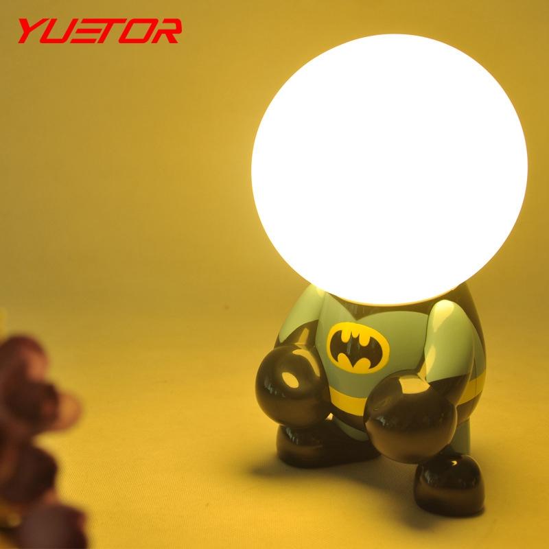 Brand YUETOR cartoon usb lamp luminaria home lamparas de mesa 0-5V ABS+PS led night lights for kids rooms(China (Mainland))