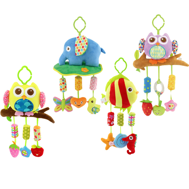 2017 hot sales new Infant Toys For Baby Crib & Stroller Plush Playing Toy Car Lathe Hanging Baby Rattles Mobile 0-12 Months(China (Mainland))