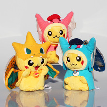 Buy 3 styles Cosplay Mega Pikachu Charmander Plush Toys Cute Plush Stuffed Animals Soft Toys Pendant Keychain for $4.44 in AliExpress store