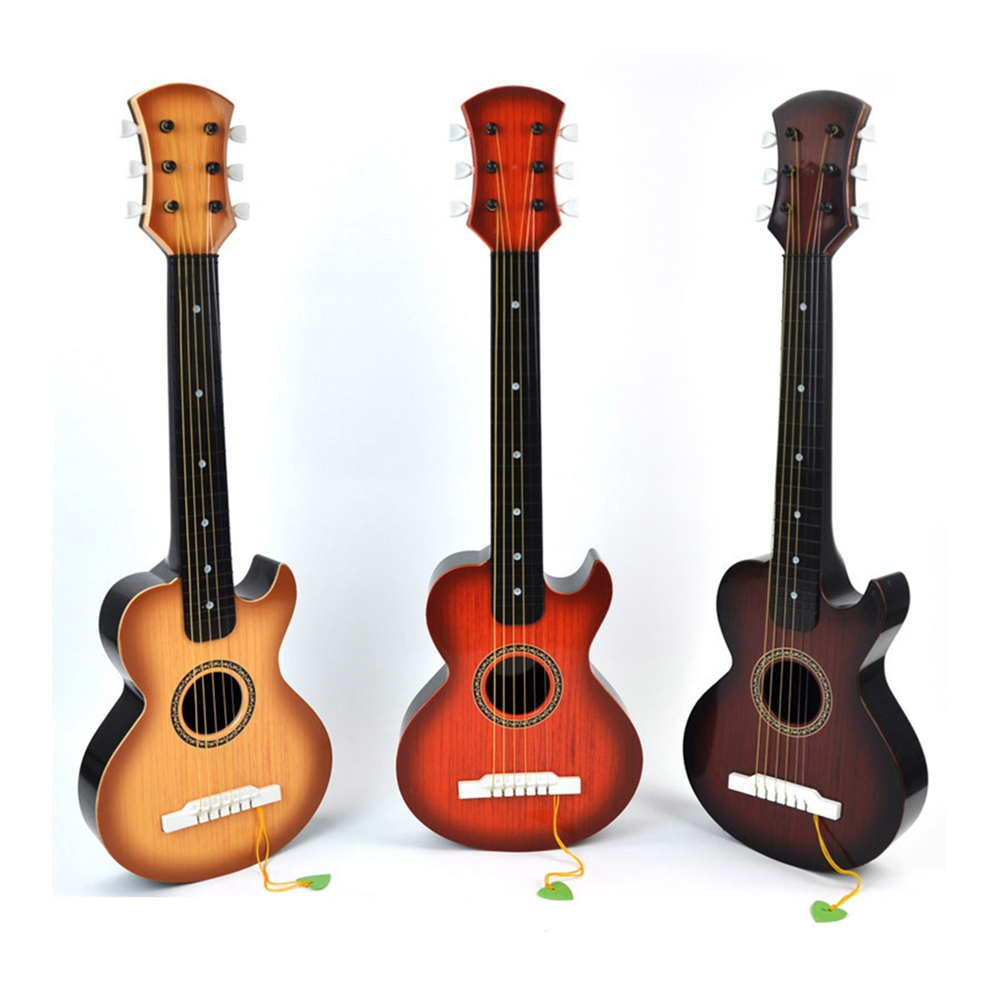 Large Simulation 6 Strings Guitar Musical Instruments Educational Toys For Children Kids(China (Mainland))