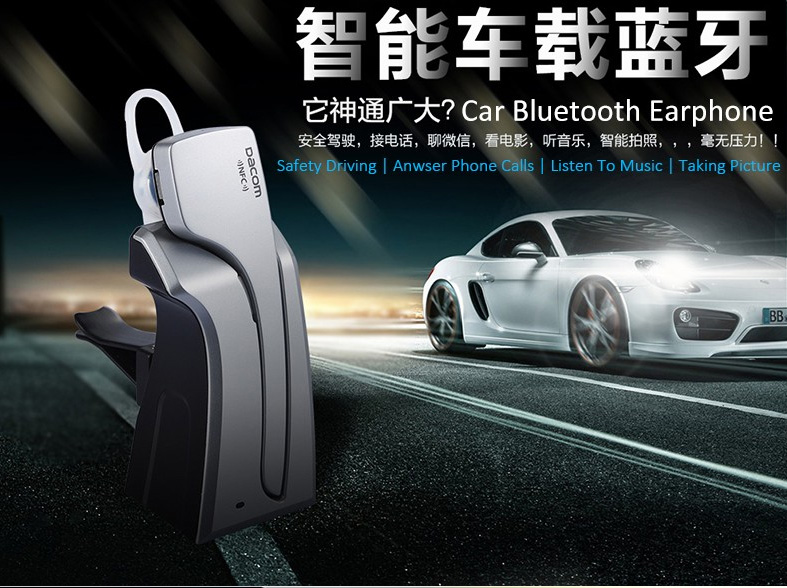 Stereo Wireless Bluetooth 4.0 Earphone NFC Headset With Extra 500mAh Backup Battery Dock Car Headphone For iphone xiaomi Huawei