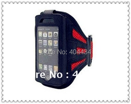 10pcs mobile phone accessories sport armband arm band running case  for iphone 3g 4 4s free shipping