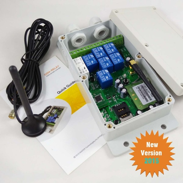 Seven relay output GSM remote control switch box (QUAD band)