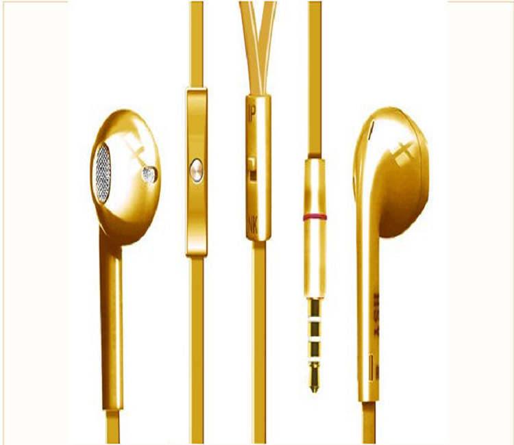 Gold original headphones 3.5Mm Jack Universal Earphone In-Ear Dr Dre Headphone Wire Volume Mic For Xiaomi Samsung Or Smartphone(China (Mainland))