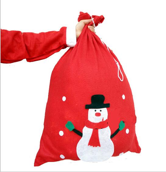 Pcs lot sizes red christmas gift bag hot sale snowman