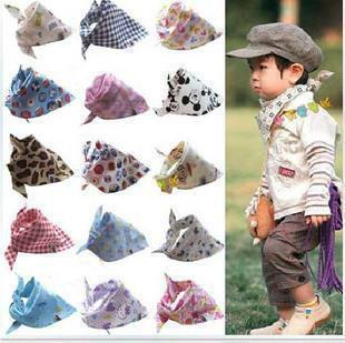 100 typs 2014 Baby Kids Toddler Bandana Baby Bibs Saliva Towel Dribble Triangle boy baberos girls cotton Head Scarf(China (Mainland))