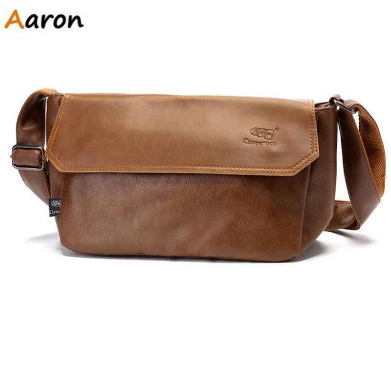 Aaron - Fashion England Style Black Vintage PU Leather Messenger bag for men,Single Belt Shoulder&amp;Cross body Mens Shoulder bags<br><br>Aliexpress