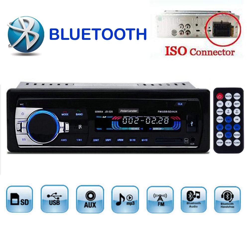 2015 new Car Radio bluetooth MP3 FM/USB one din in dash USB port 12V Car Audio bluetooth handfree car radios blueooth aux in(China (Mainland))
