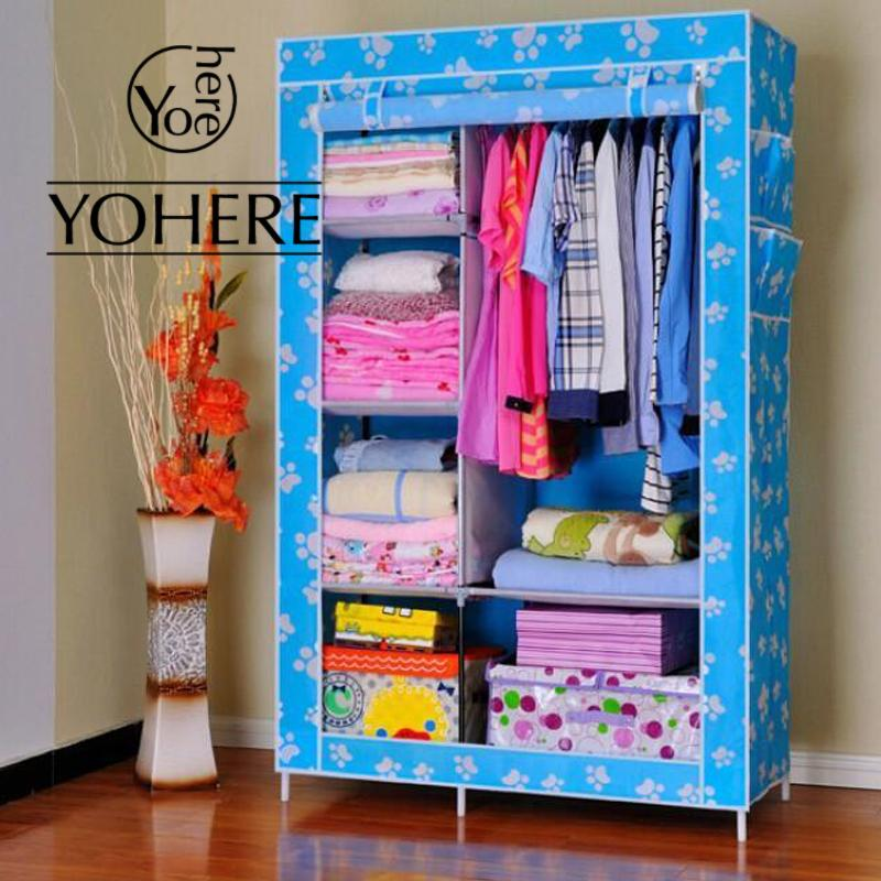 Simple non-woven fabric wardrobes clothe storage portable lockers closet sundries dust-proof storage cabinet furniture bedroom(China (Mainland))