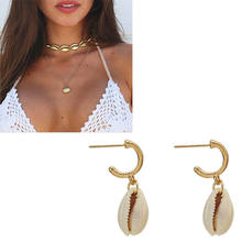 New Fashion Crystal Pearl Shell Jewelry Sets For Women 2019 shell Earrings Necklaces Statement Shell Jewelry NE+EA(China)