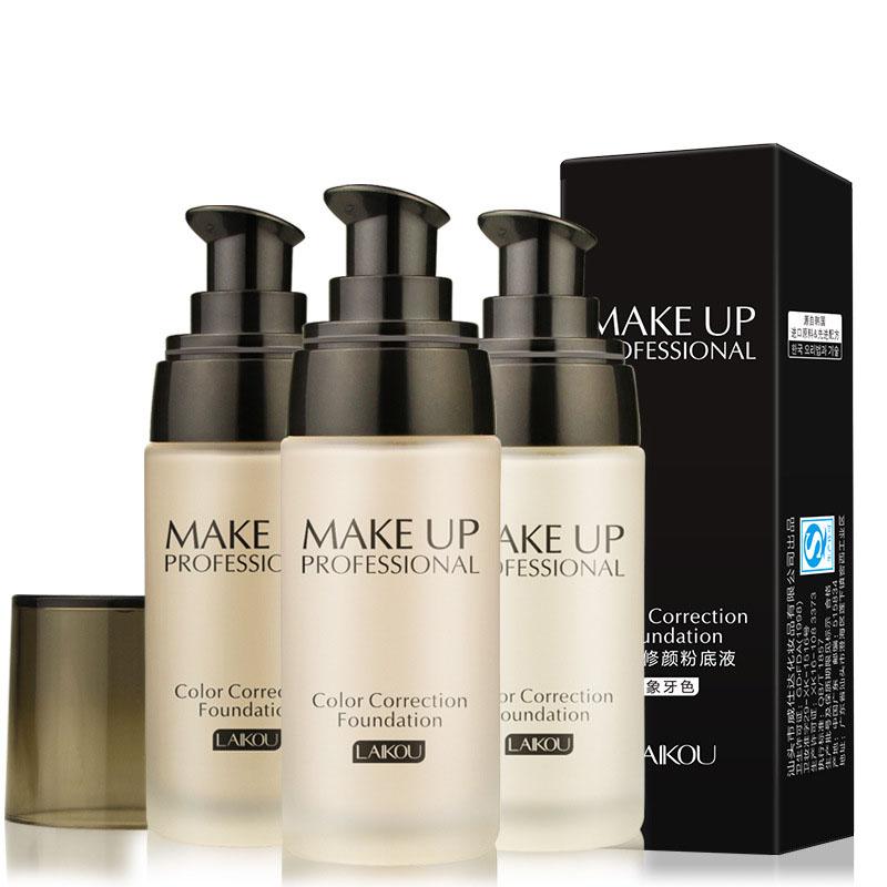 Makeup Base Face Liquid Foundation BB Cream Concealer Whitening Moisturizer Oil-control Waterproof Maquiagem Cosmetics for women(China (Mainland))