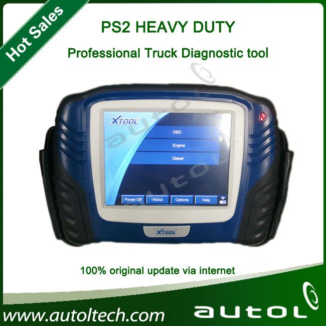 XTOOL PS2 Truck Diagnostic Tool PS2 truck and auto diagnostic computer scanner with wholesale price(China (Mainland))