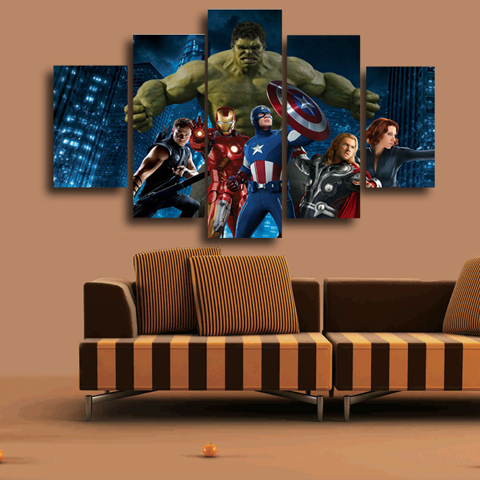 Buy the avengers movie group painting on for Poster decoratif