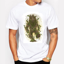 The Game Throne T-shirt Men walking with magic elves Koala print Tees Novelty Swag Cotton Summer T shirt