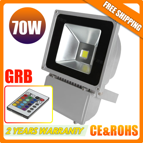 70W RGB LED Flood Light outdoor square lighting 85V-265V ,CE & ROHS approved,2 Years Warranty by FEDEX 4pcs/lot