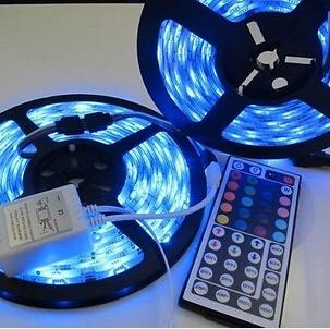 10M 2x5M 12V 5050 Waterproof SMD RGB 300LEDs LED Light Strip 44Key IR remote(China (Mainland))