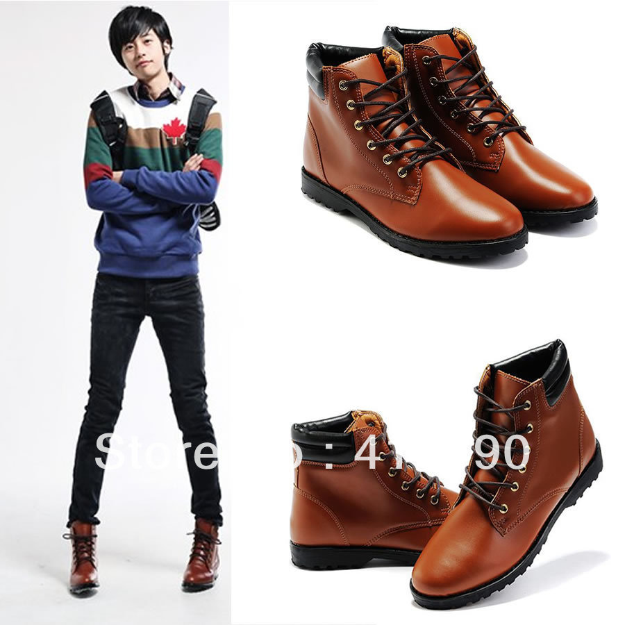 Winter male high-top shoes fashion hiking boots trend hip-hop casual - Mike yuan's store