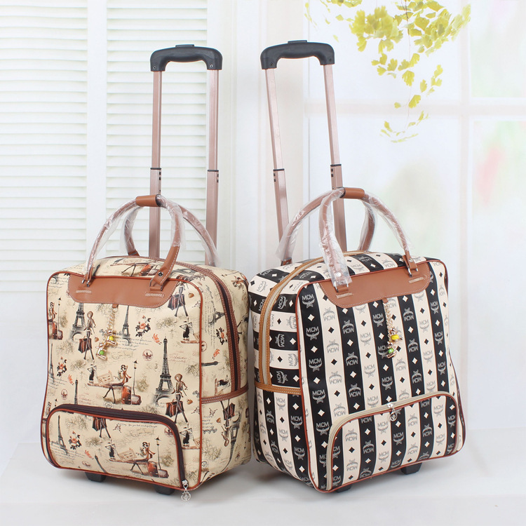 Leather luggage wheeled duffle leather travel bag cabin hand luggage - Ladies Travel Bag With Wheels Dayony Bag