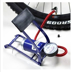 Small Foot Pump Multi-Functional Alloy Inflationists Bicycle Inflatable Tube