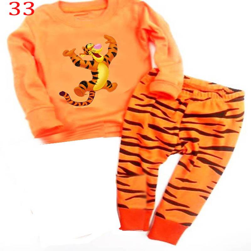 Autumn Winter Kids Pajama Sets Cartoon Animals Baby Clothes Set Children Girls Boys Clothing Unisex Boys Girls Clothes(China (Mainland))