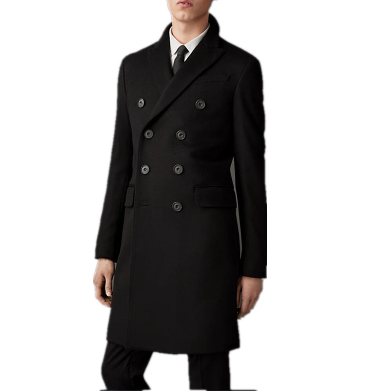 2015 Male Customizable Woolen Overcoat Medium-long Fashion Double Breasted Coat Mens Black TrenchОдежда и ак�е��уары<br><br><br>Aliexpress