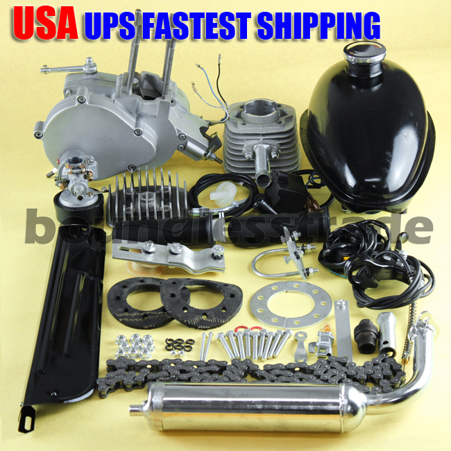 OPHIR 80cc Engine Motor Kit 2 Stroke Gasoline Engine Kit Single Cylinder for Motorized Bicycle Bike