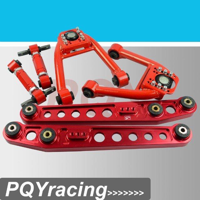 J2 гонки магазине-автомобилей шасси компоненты для 96 - 00 HONDA CIVIC EK JDM нижняя рычаг дмс + верхняя передняя + задняя превышение комплект красный