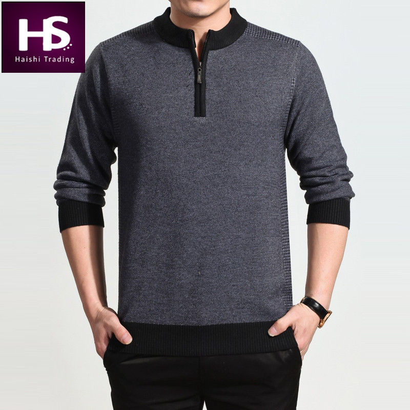 2015 New High Quality Turtleneck Polo Sweater Men Brand Mens Plus Size Sweaters Winter Thick Pullover Men Pull Factory Wholesale(China (Mainland))