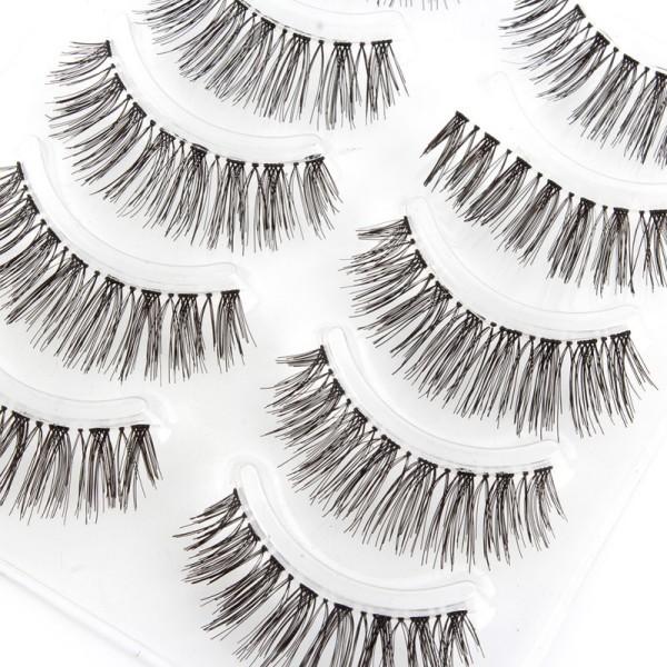 Newest Handmade Natural False Eyelashes Makeup Long Wispy Fake