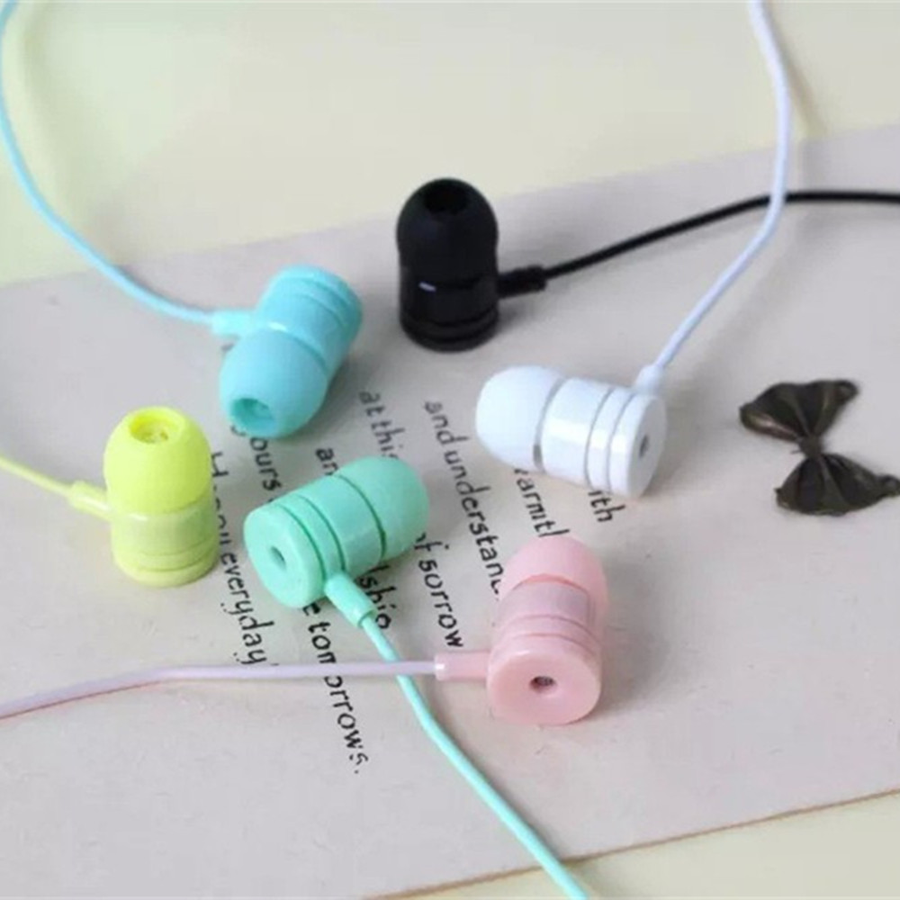 2016 New Arrival Macaroon in ear font b Kids b font Gift Earphones with Microphone Candy