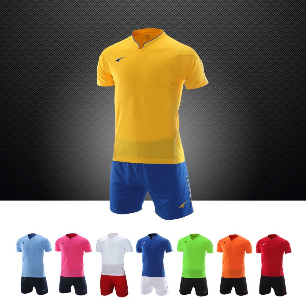 High quality football jerseys soccer tracksuit sets uniforms short cheap authentic sports Soccer jerseys(China (Mainland))