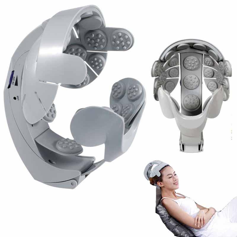 Brain Head Massager Buru-Buru Helmet Head Massageador Scalp relaxation shaking vibration Acupuncture Electrical Nerve Stimulator