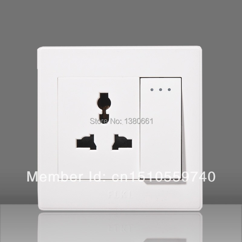 Multi-function two and three outlet with switch;wholesale ABS socket;Free shipping luxury socket switch(China (Mainland))
