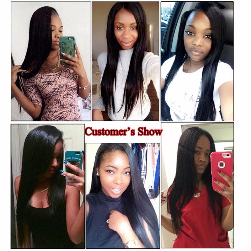 Modern Show Hair Straight With Closure 3 And 4 Hair Bundles With Lace Closures 8A Peruvian Virgin Hair Straight Human Hair Weave