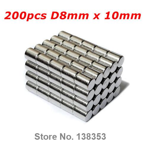 100pcs Bulk Super Strong Rare Earth Neodymium Cylinder Magnets Dia 8mm x 10mm N35 Small Round NdFeB Bar Rod Magnet<br><br>Aliexpress