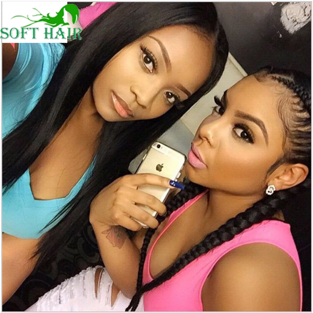 150 density unprocessed lace front wig glueless silky straight human hair full lace wig for black women brazilian human hair wig(China (Mainland))