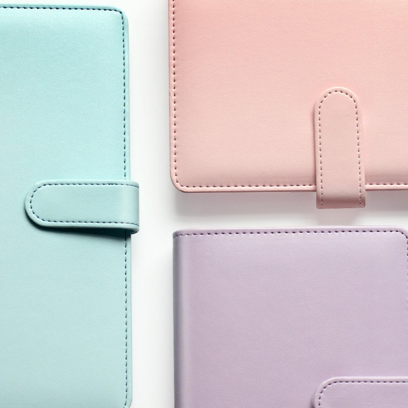 2016 Time planner Macaron leather Notebook Diary Agenda day/week/month planner Cute ring stationery binder A5 A6(China (Mainland))