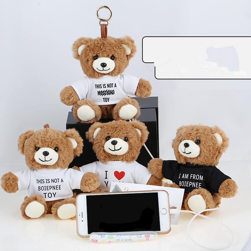Cute cartoon plush toy bear creative energy charging treasure Plush mobile power mobile phone stuffed toy doll kids for girl(China (Mainland))