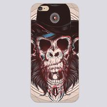 Skulls Design transparent case cover cell mobile phone cases for Apple iphone 4 4s 5 5c 5s 6 6s 6plus hard shell