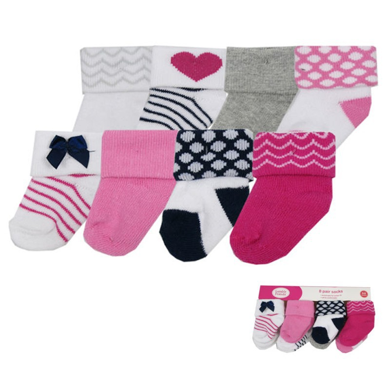 High Quality eight Pcs Cotton Child Socks Rattle Toy Socks Stunning Animal Lovely Comic strip Casual Child Socks Newborn zero-3 Monthes Meias (5)