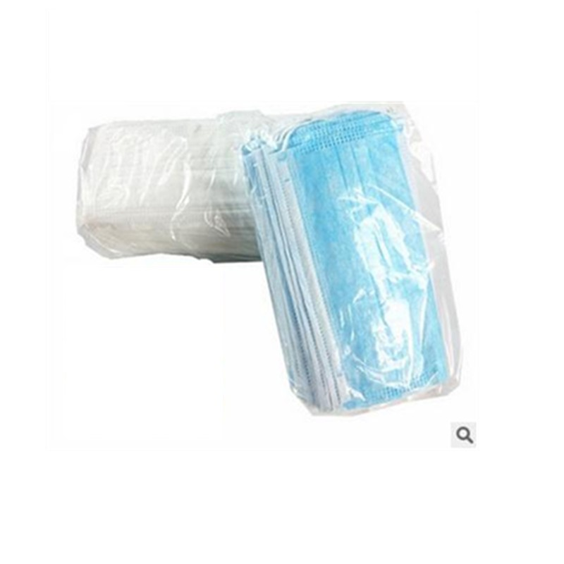 50PCS Disposable masks dust fog prevent bask in thin section in spring and summer man and woman blue white hang ear type(China (Mainland))