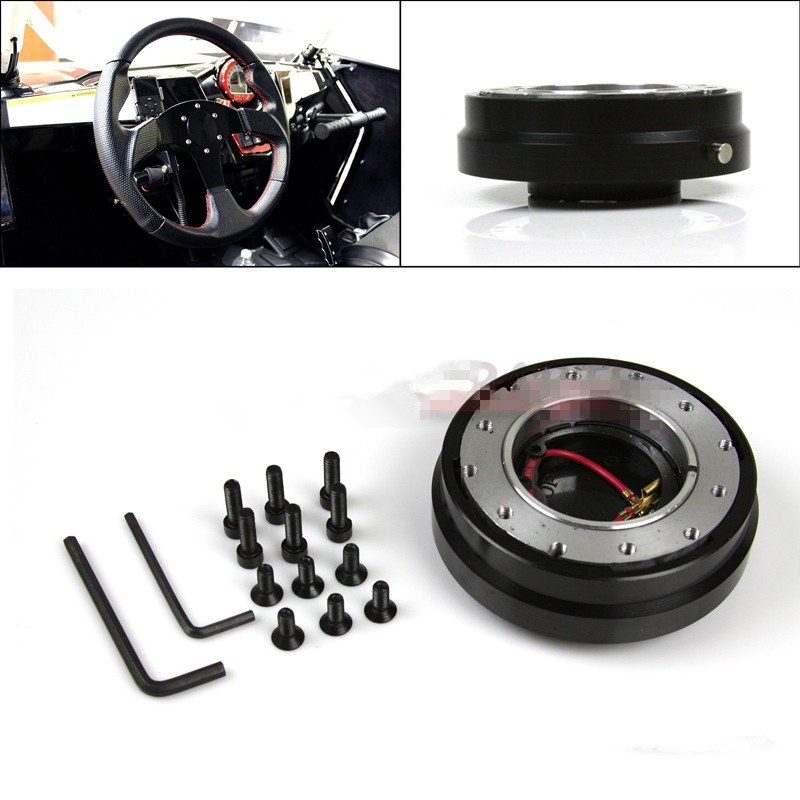 AFTERMARKET 6-HOLE BALL BEARING SLIM QUICK RELEASE KIT FOR STEERING WHEEL HUB(China (Mainland))