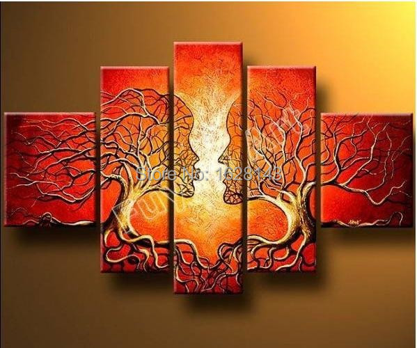Hand made modern abstract oil painting ideas home for Oil painting ideas abstract