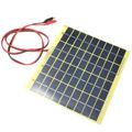 Universal Safety 18V 5W Standard Polycrystalline Silicon Solar Cells Solar Panel Crocodile Clip DIY System Set