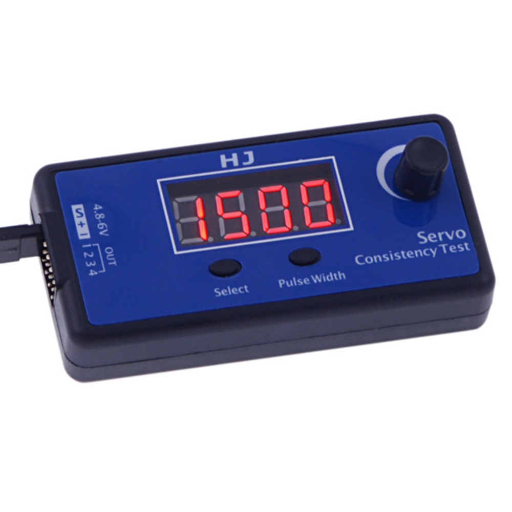 Brand HJ DC 5~6V Digital Servo Tester/ ESC Consistency Tester 14 * 10 for RC Helicopter Airplane Car Radio Controlled Tool Parts(China (Mainland))
