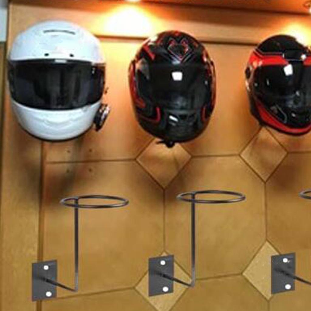 Yue Soportes para Casco de Motocicleta,Estante para Exhibici/ón de Casco Gancho Montado en la Pared para Almacenamiento Casco de Moto Sombreros Pelucas Abrigos Baloncesto