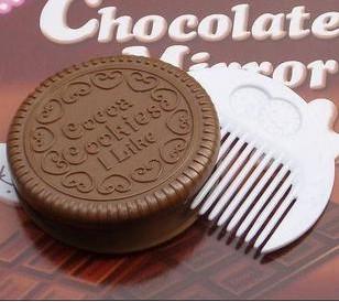 Japan wave chocolate mirror chocolate chocolate sandwich cookies make up mirror mirror(China (Mainland))