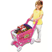 Starz Random Color Children Shopping Cart Pretend Play Model Plastic Assembly Classic Toys for Kids with Goods(China (Mainland))