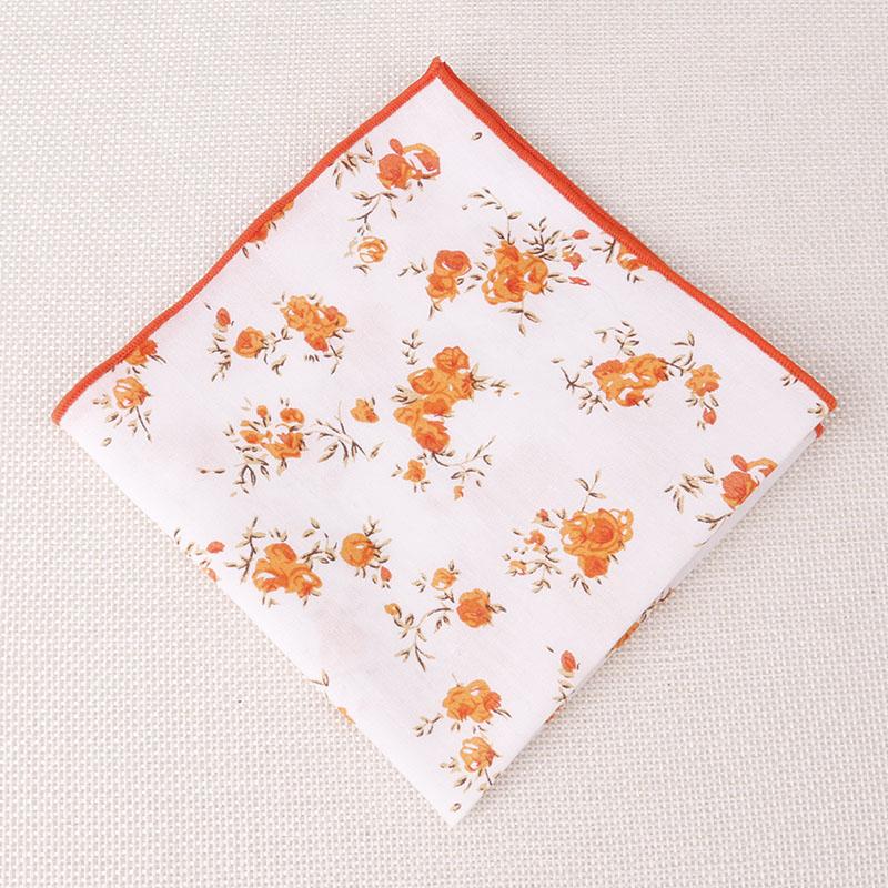 Fashion Pocket Squares Floral Dots Cotton Handkerchiefs for Men Suit Square Pockets Handkerchief Men Chest Towel 24cm*24cm(China (Mainland))